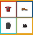 flat icon garment set of panama t-shirt stylish vector image vector image