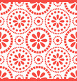 floral red cirles abstract seamless pattern vector image vector image