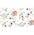 floral watercolor seamless pattern design vector image vector image