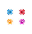 flower logo icon template vector image