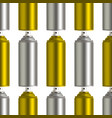 golden and silver graffiti spray can on white vector image vector image