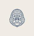 Gorilla Flat Line vector image vector image