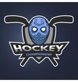Hockey goalie mask with sticks vector image vector image