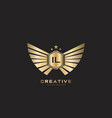 il letter initial with royal luxury logo template vector image vector image