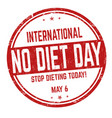 international no diet day sign or stamp vector image