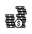 Investment Outline Icon vector image vector image