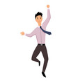 jumping business people business man jumps on a vector image vector image