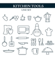 Kitchen tools web icons vector image