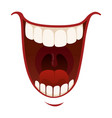 laughter and fun icon emotional happy mouth vector image vector image
