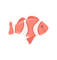 lovely clown fish cute sea creature character vector image