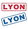 Lyon Rubber Stamps vector image vector image