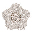 mandala or henna tattoo design ornamental round vector image