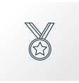 medal icon line symbol premium quality isolated vector image vector image