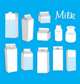 milk pack vector image vector image