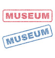 museum textile stamps vector image vector image