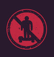 no hoverboards sign vector image vector image