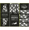 olive tree banner set hand drawn vintage vector image vector image