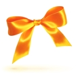 Orange isolated bow on white background vector image vector image