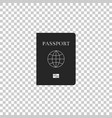 passport with biometric data icon isolated vector image
