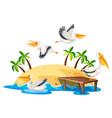 pelican in nature island vector image vector image