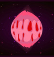pink planet concept background cartoon style vector image