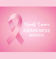 Pink ribbon to world breast cancer awareness month