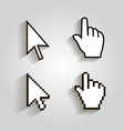 Pixel cursors icons mouse hand arrow