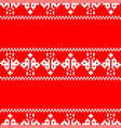pixel embroidery christmas pattern seamless new vector image vector image
