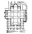 plan st marks venice vintage engraving vector image vector image