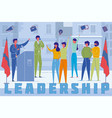 political party leader speech word concept banner vector image