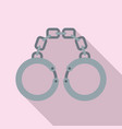 prison handcuffs icon flat style vector image vector image