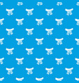 scarf pattern seamless blue vector image vector image