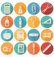 School icons flat set - vector image