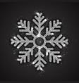 silver sparkling snowflake vector image vector image