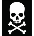 Skull and crossbones design vector image vector image