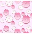 Spring background seamless pattern 3d sakura vector image vector image