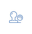 stamp line icon concept stamp flat symbol vector image vector image