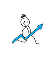 stick figures stick figures business strategy a vector image vector image