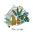 summer tropical greeting card invitation leopard vector image vector image