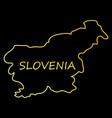 symbol poster banner slovenia map of slovenia vector image vector image