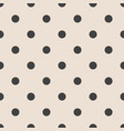 tile pattern with black polka dots on pink vector image vector image
