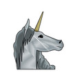 unicorn legendary mythical creature icon vector image vector image