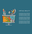 virtual augmented reality vr vector image vector image