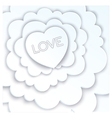 White love in the clouds vector image