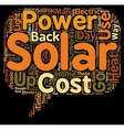 Why Use Solar Power Some Great Reasons text vector image vector image
