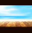 wood floor walkway seaside coastline vector image