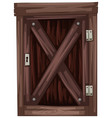 wooden door in old fashioned style vector image vector image