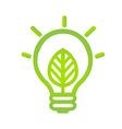 Eco Lamp Symbol vector image