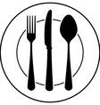 Black Cutlery Symbol vector image