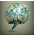 Abstract geometric bubble vector image